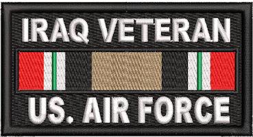 Iraq Veteran Service Ribbon US Air Force Patch