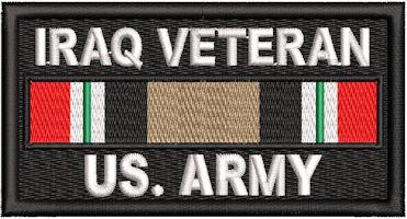 Iraq Veteran Service Ribbon US Army Patch