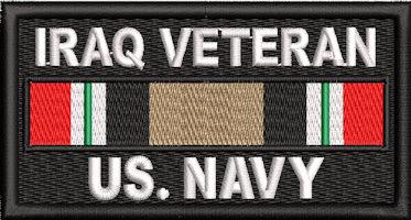 Iraq Veteran Service Ribbon US Navy Patch