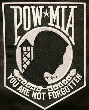 Large POW-MIA Back Patch 11inx8in