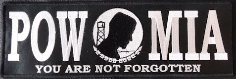 POW MIA 11.5x3.75 PT Rocker Bar Black/White
