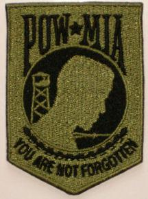 POW MIA Full Embroidered Olive/Black Patch