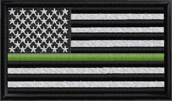 US Flag Thin Green Line - Click for Available Options