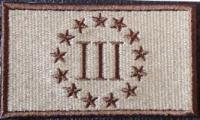 3 Percent Patch - Khaki-Dk Brown