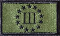 3 Percent Patch OD-Black