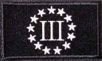 3Percent Patch Black-White