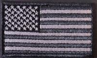 US Flag - Small Black Gray Subdued