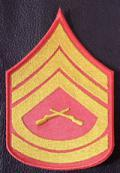 MasterSgt Chevron - Red/Gold