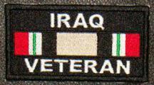 Iraq Veteran Service Ribbon Patch