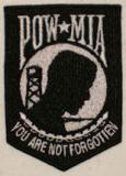 POW MIA Embroider Patch Black/White