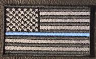 US Flag - Thin Blue Line - Black-Gray
