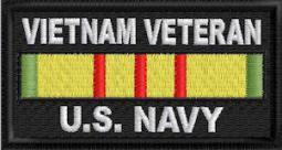 Vietnam Veteran US Navy Patch