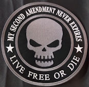 2nd Amendment Never Expires 10in Back Patch