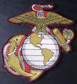 EGA 9x10 Red Background Back Patch