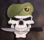 Military Skull 9.5x9.5