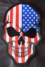 USA Flag Skull-2 12in