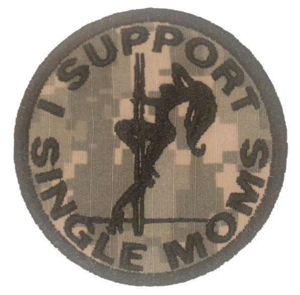 I Support Single Moms Patch - ACU Camo