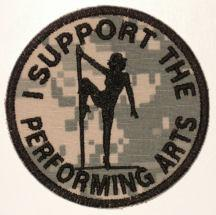 I Support The Performing Arts Patch - ACU Camo