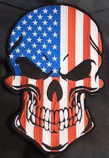 USA Flag Skull 12in