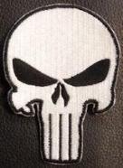 The Punisher Skull - White