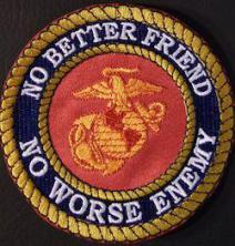 No Better Friend No Worse Enemy 4in-BLACK