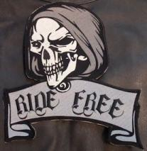 Ride Free Skull Back Patch