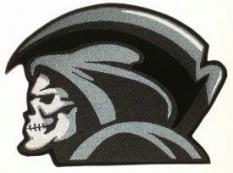 Large Grim Reaper Back Patch