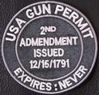 USA Gun Permit Patch