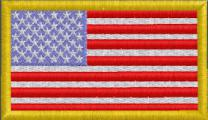 US Flag X-Small Dk Yellow Border