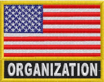 US Flag with Organization Name