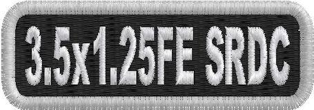 "3.5""W x 1.25""H 1-Line Name Patch Standard Round Corners Full Embroidered"