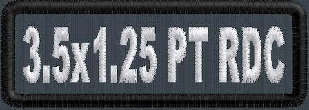 3.5in x 1.25in Round Corner Name Patch - PolyTwill