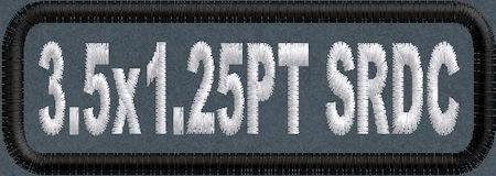 3.5in x 1in Standard Round Corner Name Patch - PolyTwill