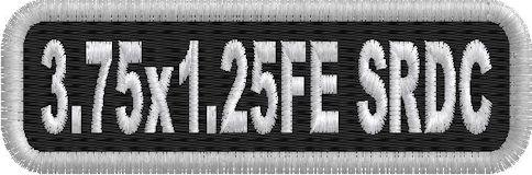 3.75in x 1.25in Name Patch Standard Round Corners - FE