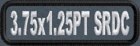 3.75in x 1.25 Name Patch Standard Round Corner - PT