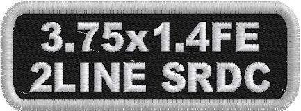 3.75x1.4 Full Embroidered 2 Line SRDC