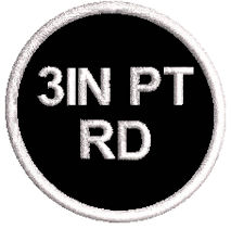 3in Round Polytwill Patch