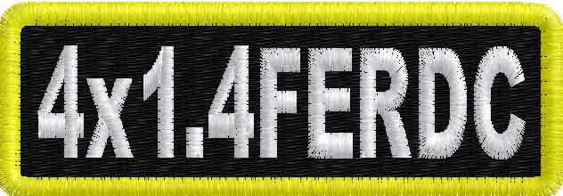 4in x 1.4in Name Patch RD Corner - FE