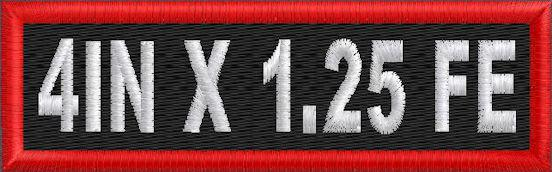 Custom 4in. x 1.25 Name Patch Full Embroidered