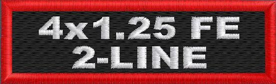 4in x 1.25in 2 Line Name Patch - FE