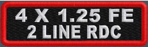 4inx1.25in Full Embroidere Name Patch Round Corners