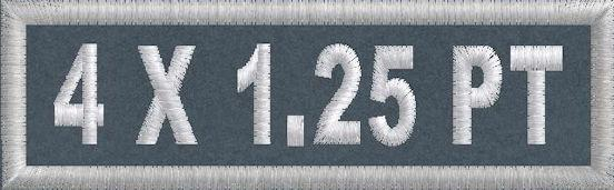 4in x 1.25 Polytwill Name Patch