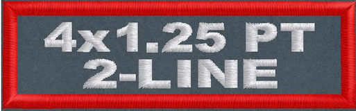 4in x 1.25in 2-Line Polytwill Name Patch