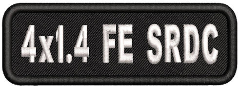 4in x 1.4in Name Patch Standard Round Corner - FE