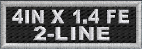 4x1.4 Full Embroider 2 Line Name Patch