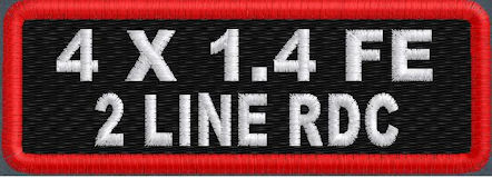 4x1.4 Full Embroider 2 Line Name Patch RD Corners