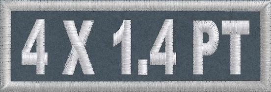 4in x 1.4 Polytwill Name Patch