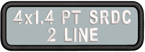 4in x 1.4 2Line Standard Round Corner Polytwill Name Patch