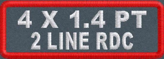 4in x 1.4 2Line RDC Polytwill Name Patch