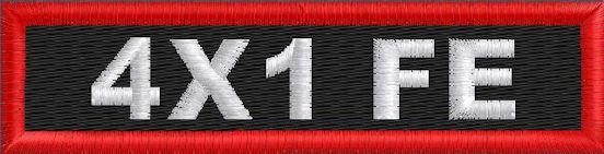 Custom 4in. x 1 Name Patches Full Embroidered